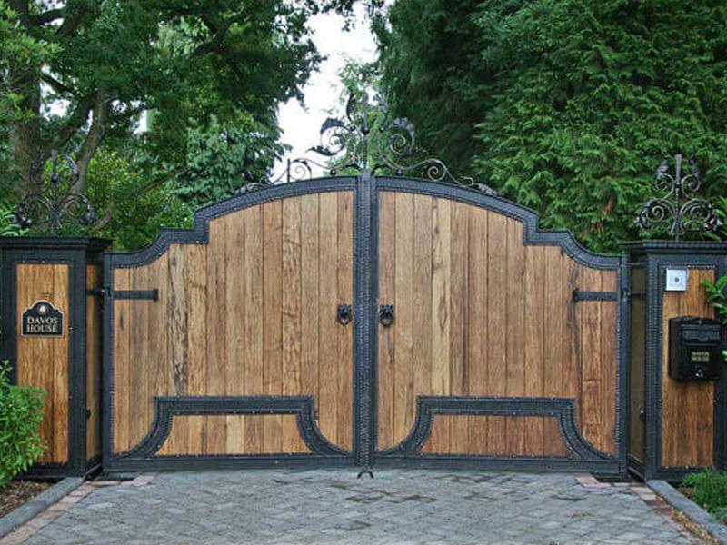 Кованые ворота ВКД12
