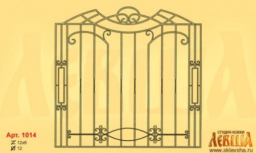 Эскиз кованой решетки 1014