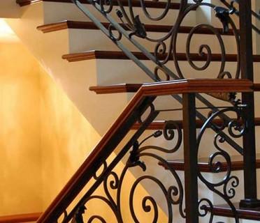 Кованые перила лестничные ПЕРК 146