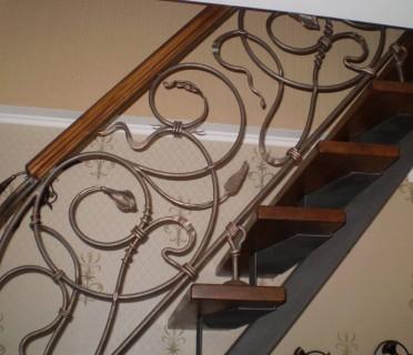 Кованая лестница КЛ01