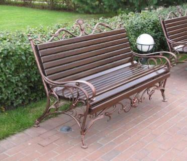 Кованая скамейка ЛАВ2