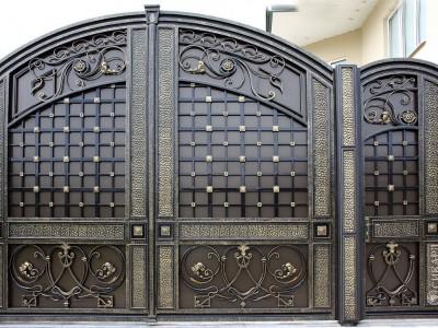 Кованые ворота ВК65