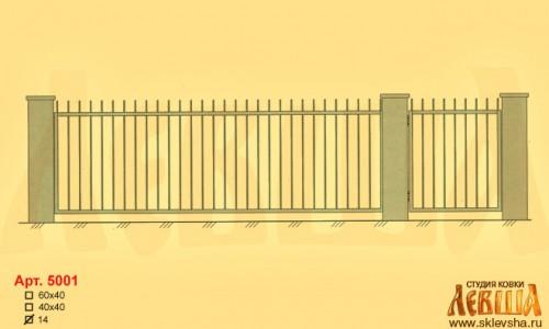 Эскиз кованых ворот 5001