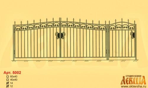 Эскиз кованых ворот 5002