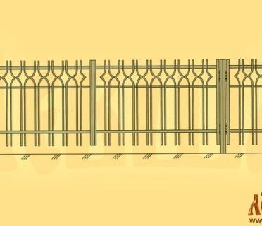 Эскиз кованых ворот 5003