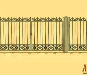 Эскиз кованых ворот 5004
