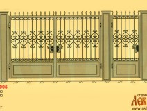 Эскиз кованых ворот 5005
