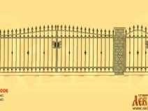 Эскиз кованых ворот 5006