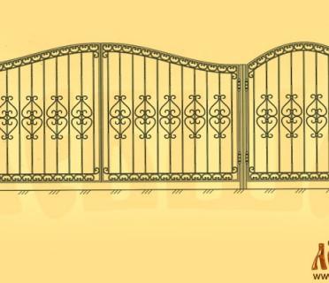 Эскиз кованых ворот 5007