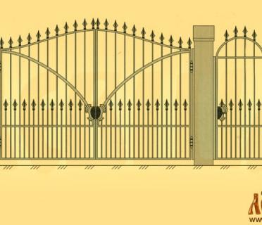 Эскиз кованых ворот 5008