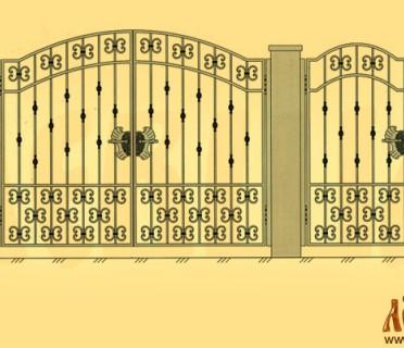 Эскиз кованых ворот 5009