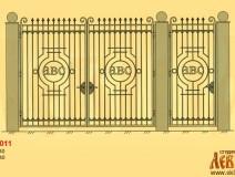 Эскиз кованых ворот 5011