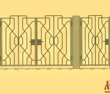 Эскиз кованых ворот 5012