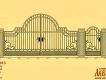 Эскиз кованых ворот 5013