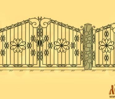 Эскиз кованых ворот 5017