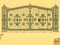 Эскиз кованых ворот 5018