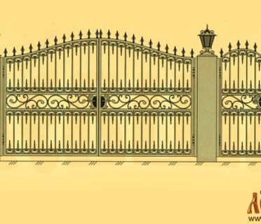 Эскиз кованых ворот 5019