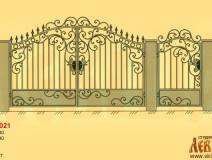 Эскиз кованых ворот 5021