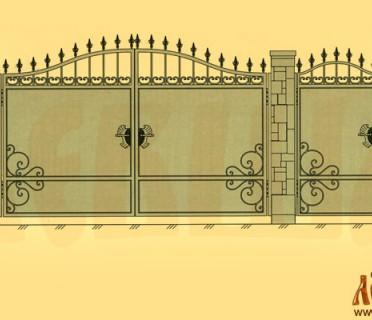 Эскиз кованых ворот 5023