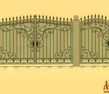 Эскиз кованых ворот 5024