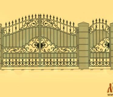 Эскиз кованых ворот 5025