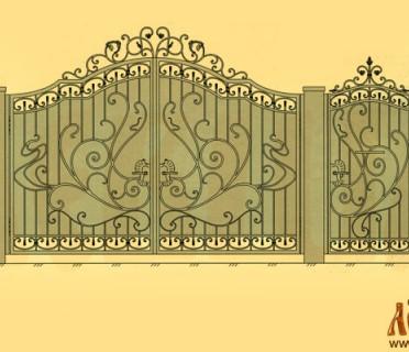 Эскиз кованых ворот 5027