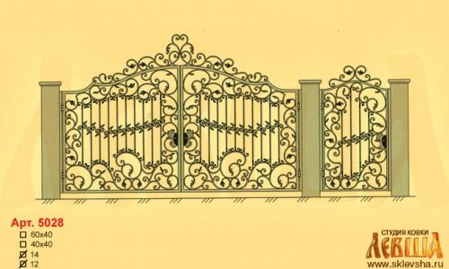 Эскиз кованых ворот 5028