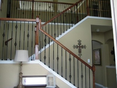 Кованые перила лестничные ПЕРК110