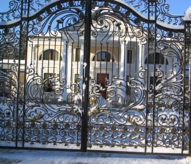 Кованые ворота ВК66