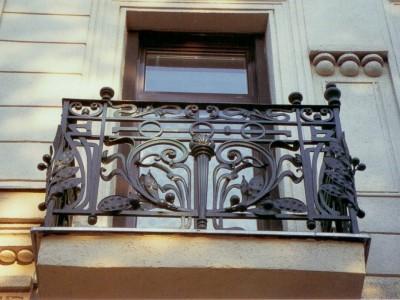 Кованое ограждение балкона БК72