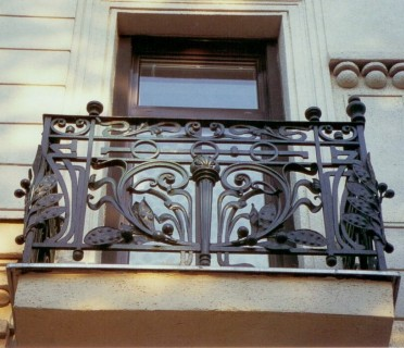 Кованое ограждение балкона БК84