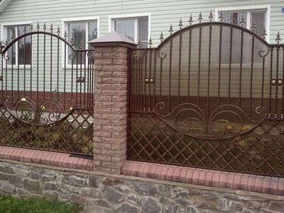 Забор кованый ЗБК27