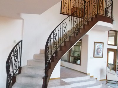 Кованые перила лестничные ПЕРК126