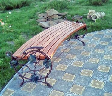 Кованая скамейка ЛАВ15