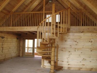 Деревянная лестница ДЛД09