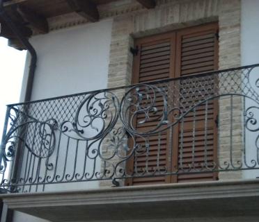 Кованое ограждение балкона БК87