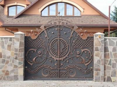 Ворота кованые ВК03