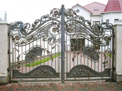 Кованые ворота ВК81