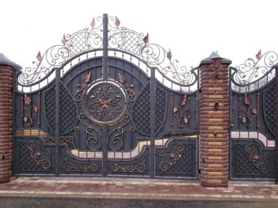 Кованые ворота ВК82