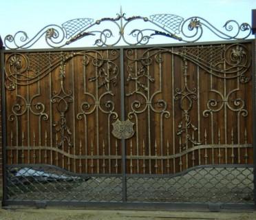 Ворота кованые ВКД01