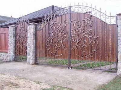 Ворота кованые ВКД02