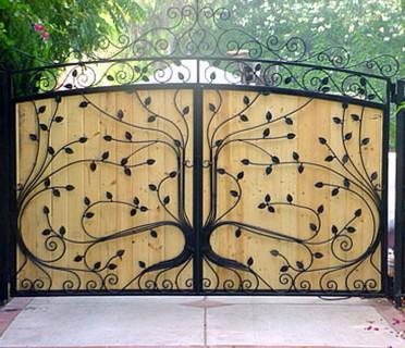 Ворота кованые ВКД05