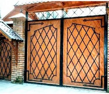 Ворота кованые ВКД08